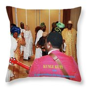 Kunle Kuti Live Throw Pillow