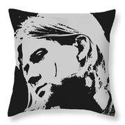 Kurt Cobain Poster Art Throw Pillow