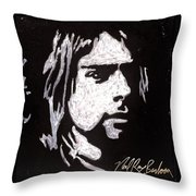 Kurt Kobain Throw Pillow