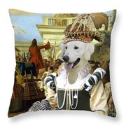 Kuvasz Art Canvas Print - The Charlatan Throw Pillow