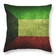 Kuwait Distressed Flag Dehner Throw Pillow