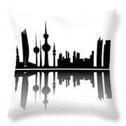 Kuwait Skyline Throw Pillow