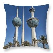Kuwait Towers In Kuwait City, Kuwait Throw Pillow
