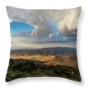 Kwaaymii Point Monsoon Throw Pillow