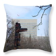 Kwakiuti Totem Throw Pillow