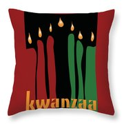 Kwanzaa Card Throw Pillow