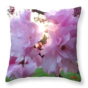Kwanzan Cherry Blossom Throw Pillow