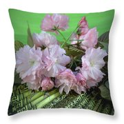 Kwanzan Throw Pillow