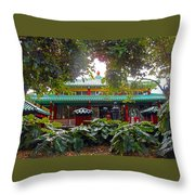 Kwon Yin Temple 5 Throw Pillow