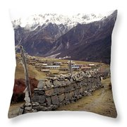 Kyanjin Gompa Throw Pillow