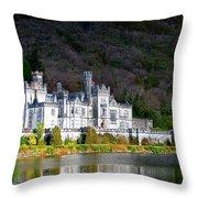 Kylemore Abbey Throw Pillow