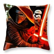 Kylo Ren And Assistants Throw Pillow