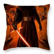 Kylo Ren In The Battlefield Throw Pillow