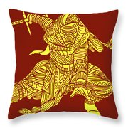 Kylo Ren - Star Wars Art - Red And Yellow Throw Pillow