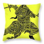 Kylo Ren - Star Wars Art - Yellow Throw Pillow