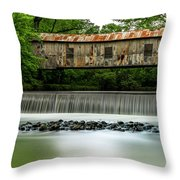 Kymulga Covered Bridge  1864 Throw Pillow