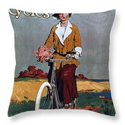 Kynoch Cycles - Bicycle - Vintage Advertising Poster Throw Pillow
