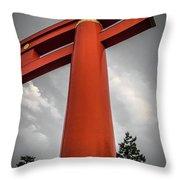 Kyoto Torii Throw Pillow