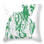 Kyrie Irving Boston Celtics Pixel Art 42 Throw Pillow