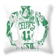 Kyrie Irving Boston Celtics Pixel Art 8 Throw Pillow