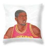 Kyrie Irving Throw Pillow by Toni Jaso