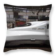 Kyushu Bullet Train Locomotive Throw Pillow