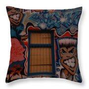 L A Urban Art Throw Pillow