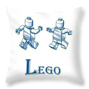 L Is For Lego Throw Pillow