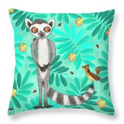 L Is For Lemur And Lark Throw Pillow