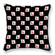 L-plate Wallpaper Throw Pillow