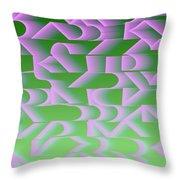 l13-FF9DEC-4x3-2000x1500 Throw Pillow