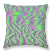 l15-FF00E5-3x3-1800x1800 Throw Pillow