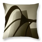 La Abstract Bw Throw Pillow
