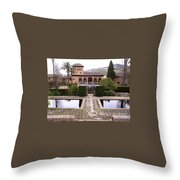 La Alhambra Garden Throw Pillow