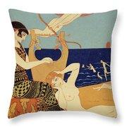 La Bague Symbolique Throw Pillow