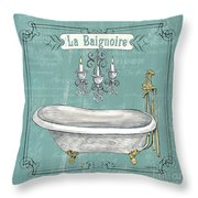 La Baignoire Throw Pillow