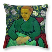 La Berceuse, Portrait Of Madame Roulin, 1888-1889, Kroller-mulle Throw Pillow