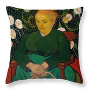 La Berceuse. Woman Rocking A Cradle. Augustine-alix Pellicot Roulin Throw Pillow