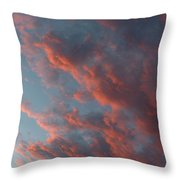 La Boca Sunset Throw Pillow