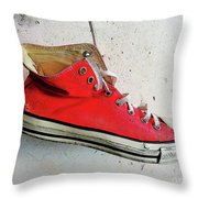 The Artists Boot Throw Pillow