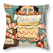 La Boulanger Francaise Throw Pillow by Tim Nyberg