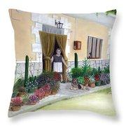 La Casa De Nonna Loreta Throw Pillow