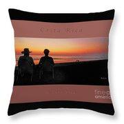 la Casita Playa Hermosa Puntarenas Costa Rica - Sunset Happy Couple Panorama Greeting Card Bold Throw Pillow