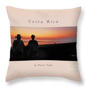 la Casita Playa Hermosa Puntarenas Costa Rica - Sunset Happy Couple Panorama Greeting Card Soft Throw Pillow