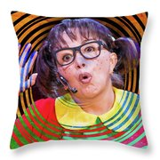 La Chilindrina In A Spin Throw Pillow