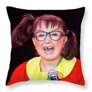 La Chilindrina Laughing Throw Pillow