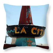 La Cita In Tucumcari On Route 66 Nm Throw Pillow