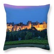 La Cite Carcassonne Throw Pillow by Brian Jannsen