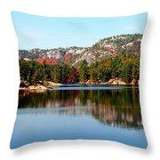La Cloche Mountain Range Throw Pillow