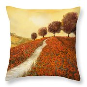 La Collina Dei Papaveri Throw Pillow